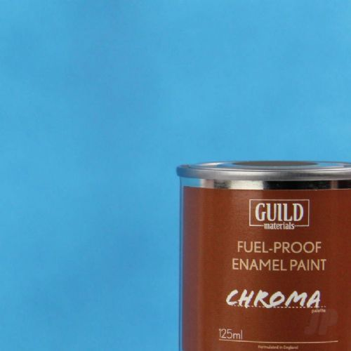 Guild Materials Matt Light Blue Enamel Fuel-Proof Paint (125ml Tin) GLDCHR6305